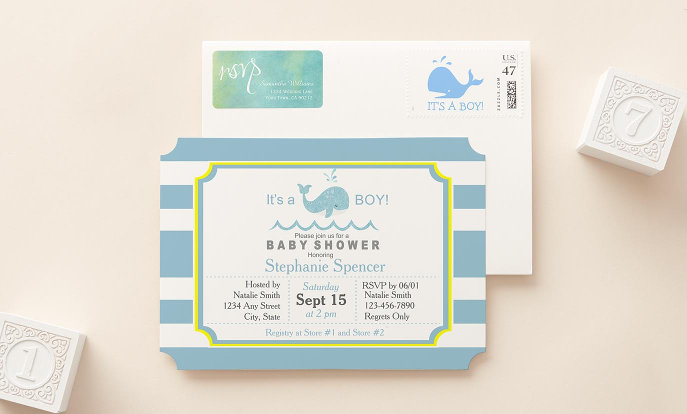 Baby Showers - Plan your next celebration with custom invitations, postage, envelopes, stamps, and more!