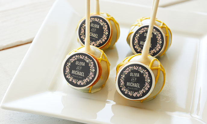 Shop custom Wedding Cake Pops and customize them with your own photo, text or design.