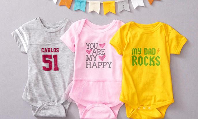 Ropa de bebé con diseños personalizados