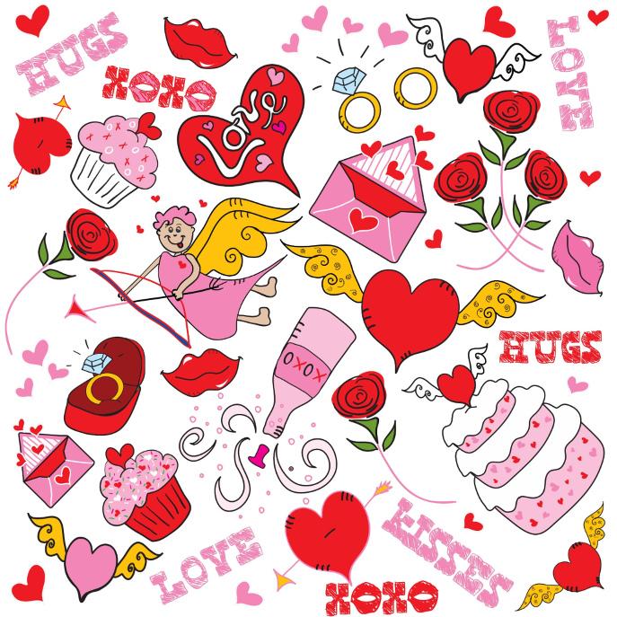Stupid Cupid Love doodles Napkin