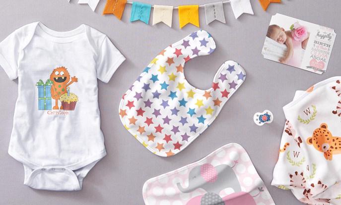 Diseños seleccionados para regalos personalizados de bebé
