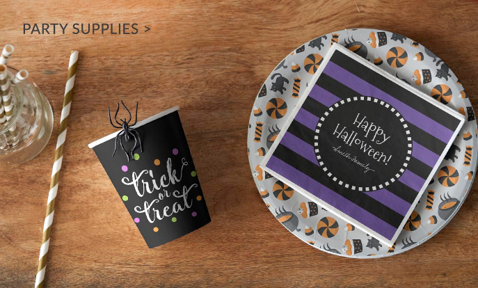 Halloween Party Supplies - Paper Cups, Paper Plates & Paper Napkins