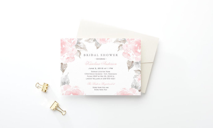 Customize your invitations - Tropical Pink & Gold Pineapple Bridal Shower Card