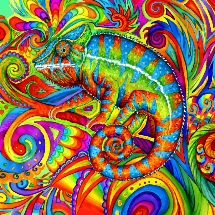 Psychedelizard iPad Cover