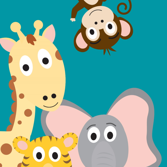 Safari Baby Shower Invitation, Baby Animal Shower Card