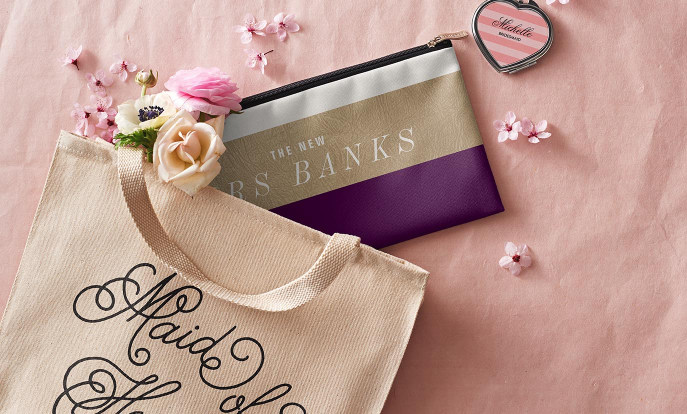 Browse our collection of Bridesmaids Gifts that you can customize!