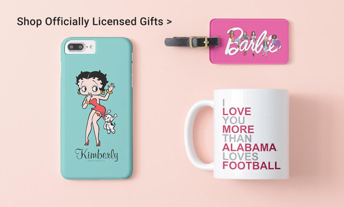 Shop Officially Licensed Gifts - Classic Betty, Barbie Luggage Tag, Football Coffee Mug