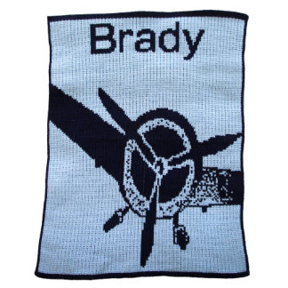Personalized Country Blue & Black Fly Away Blanket