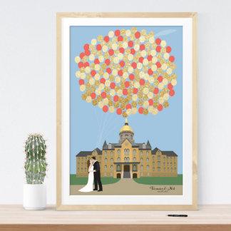 Custom Capitol Wedding Guestbook Alternative Print