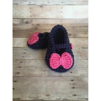 Baby Girl Crochet Mary Jane booties