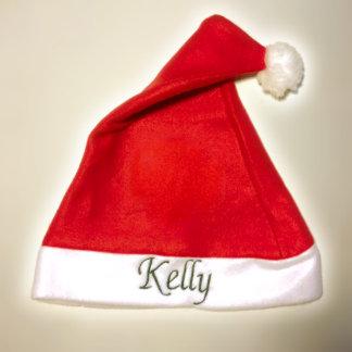 Red and White Custom Fleece Santa Hat