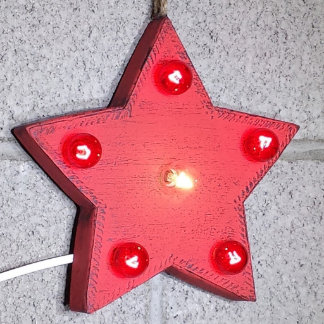 """Custom 9"""" Rustic Red Star Marquee Sign"""