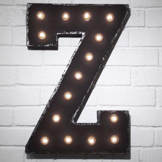 """Custom 21"""" Black Letter """"Z"""" Vintage Marquee Sign"""