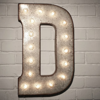 """Custom 21"""" Letter Vintage Marquee Signs"""
