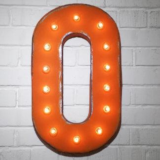 "Custom 21"" Orange Letter ""O"" Vintage Marquee Signs"