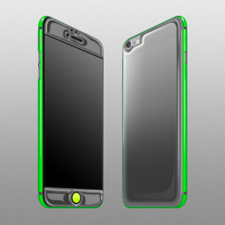 Custom Graphite & Green iPhone 6/6s Plus Gel Skin