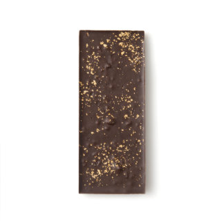 Bacon, Himalayan Sea Salt and Gold Flake Chocomize Dark Chocolate Bar