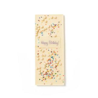 Torta de cumpleaños barras de chocolate blanco