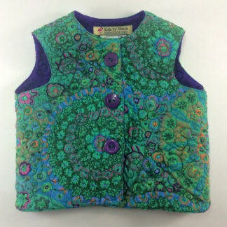Kids Fleece-Lined and Green Designer Quilted Vest