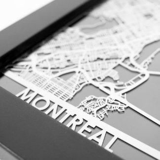 "5"" X 7"" Stainless Steel Cut Montreal City Map"