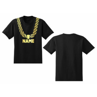 Men's Custom Personalized Gold Chain T-shirt
