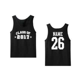 Men's Class of Pick A Year Personalized Tank Top