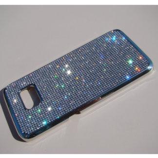Samsung Galaxy S7 Edge Silver Cr. w/Clear Crystals