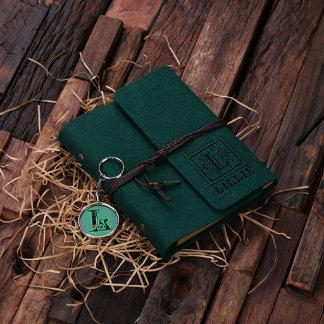 Custom Felt Journal & Key Chain Set - Hunter Green