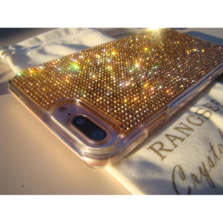 iPhone 7 Plus Clear Case w/Rose Gold Crystals