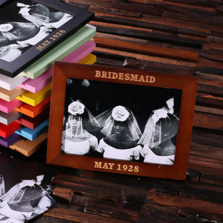 Personalized Brown Keepsake Photo Frame 5 x 7