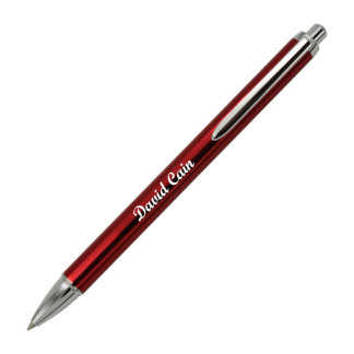 Red Aluminum Smooth Writing Roller Ball Pen