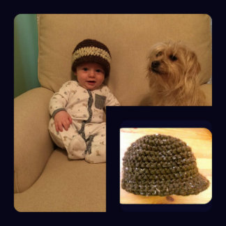 Newsboy Newborn Hat Cozy Chunky Knit