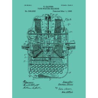 Vintage Type Writer Original Patent Print