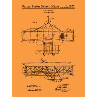 Flying Machine 11x17 Vintage Screen Print