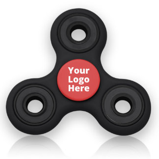 Black & Red Stress-Relieving Fidget Spinner Toy