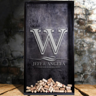 Personalized Shadow Box with Monogram Engraving