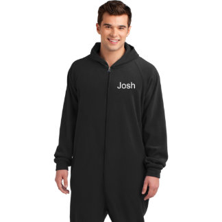 Personalized Black Microfleece Adult Lounger
