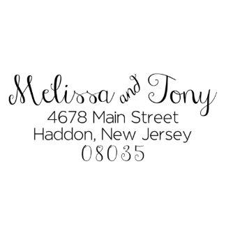 Melissa & Tony Address Stamp