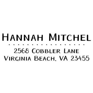Hannah Mitchell Return Address Stamp