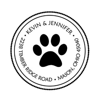 Paw Print Return Address Stamp