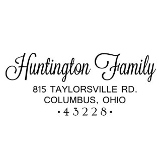 Huntington Family Address Stamp