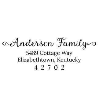 Anderson Family Return Address Stamp