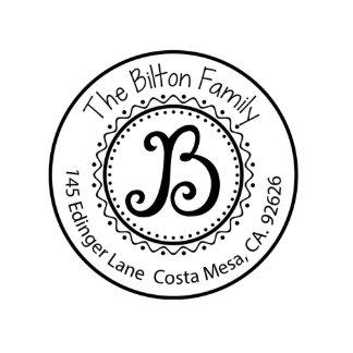 Bilton Self Inking Address Stamp