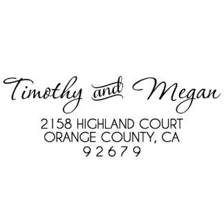 Timothy & Megan Address Stamp