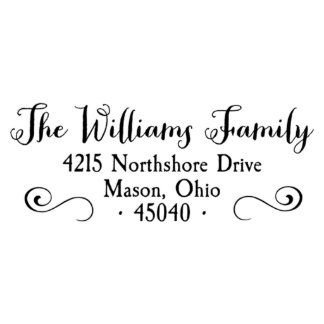 Williams self inking address stamp return address stamp