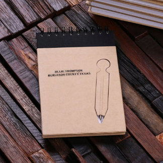 Personalized Engraved Memo Pad With Pen