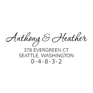 Evergreen Self Inking Return Address Stamp