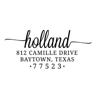 Holland Self Inking Return Address Stamp