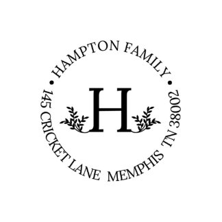 Hamptom Self Inking Address Stamp