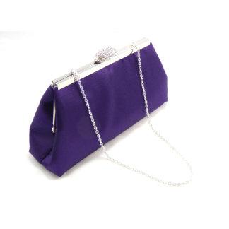 Embrague púrpura y de plata de Blackberry de la